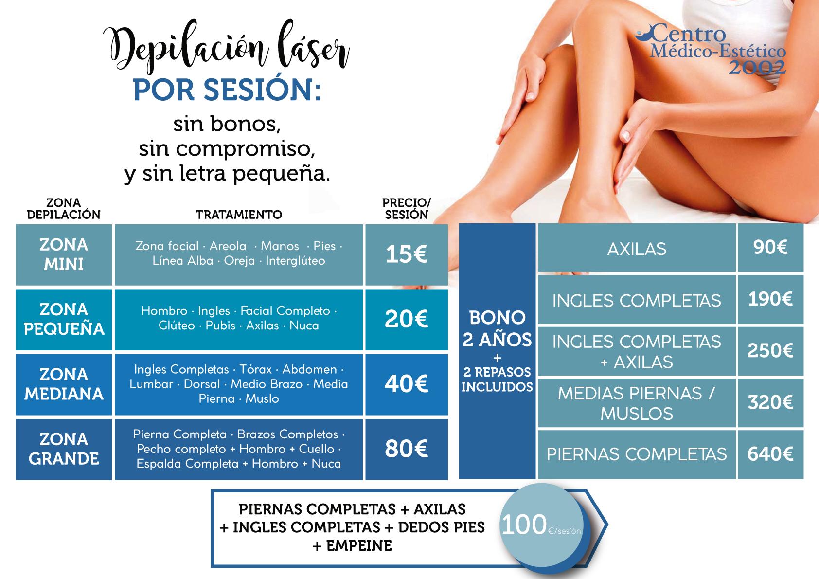 depilación laser precios Málaga